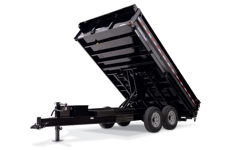 Sure Trac Heavy Duty Deckover Dump W Fold Down Sides