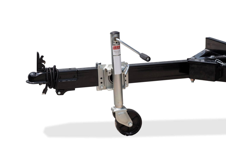 Utility Dump Swivel Jack w/ Caster Wheel