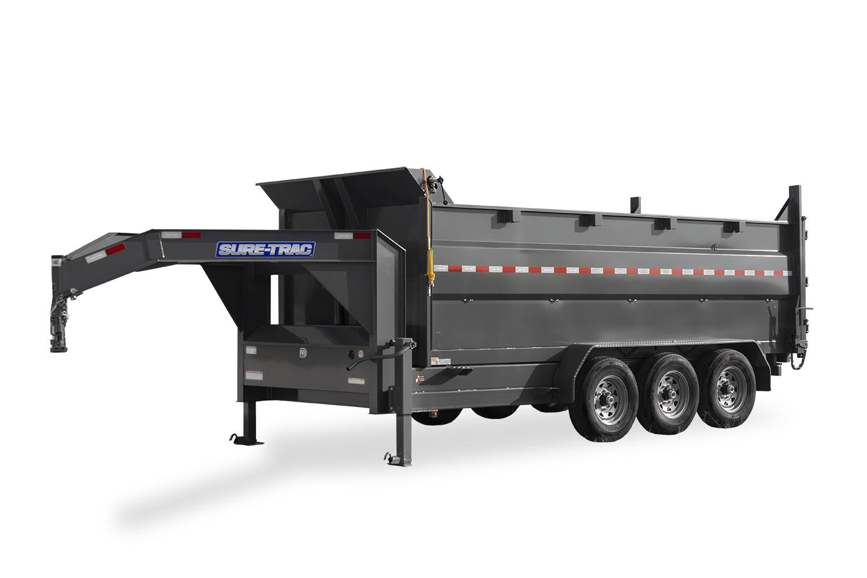 HD Low Profile Tri-Axle Dump w 4 FT Sides