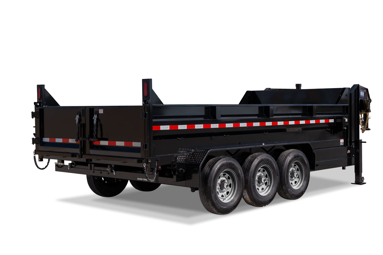 HD Low Profile Tri-Axle Dump Rear Lowered