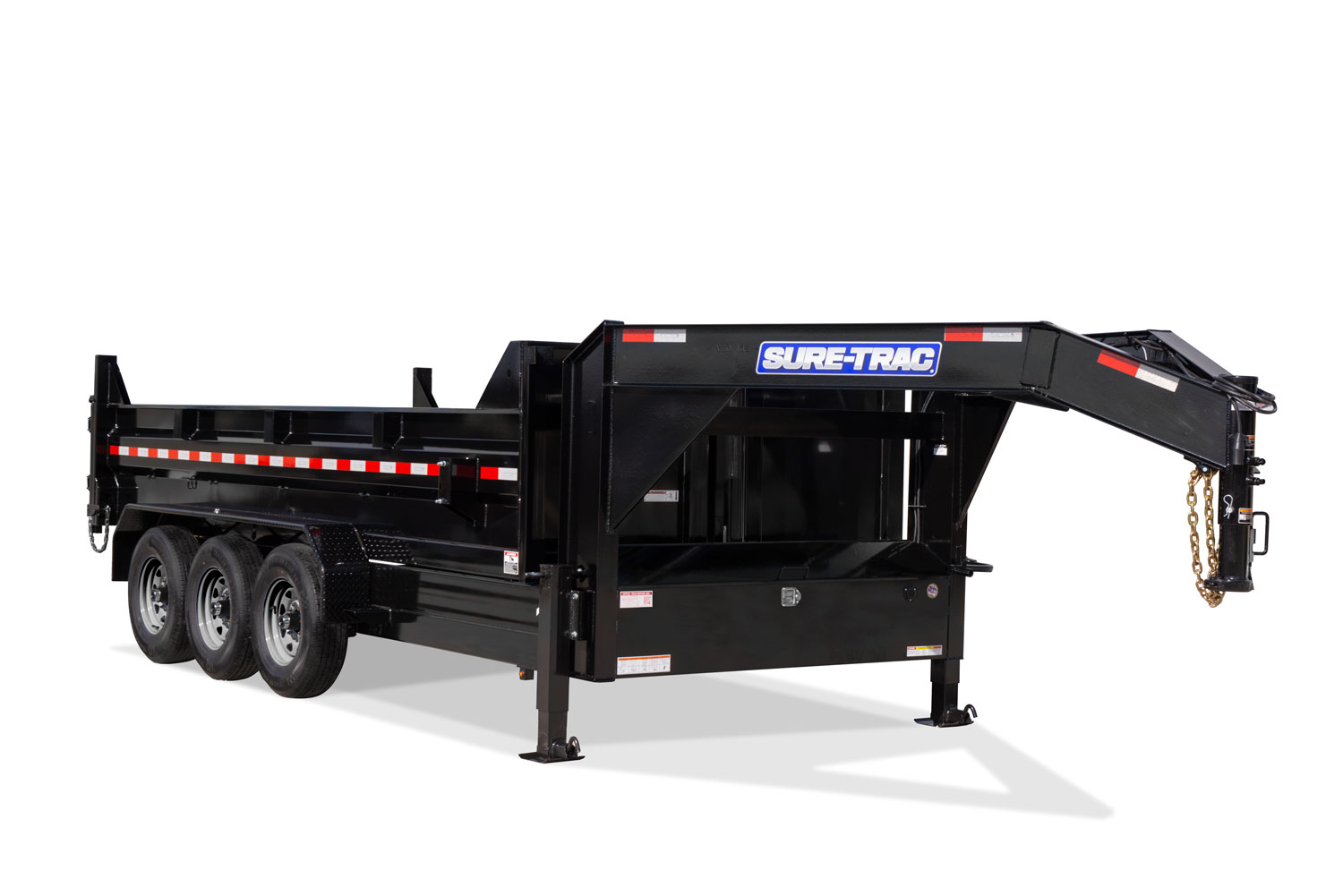 HD Low Profile Tri-Axle Dump Front Lowered